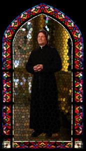 St. John Bosco stained glass