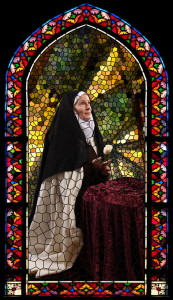 St. Therese Lisieux stained glass