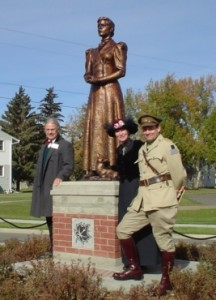 Rooney and Punyi performed as Major General and Jennie Greisbach for the unveiling of Canada Lands Greisbach statue with Edmonton Mayor Bill Smith.